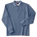 ホシ服装 245 裏起毛ポロシャツ 5杢ネイビー L