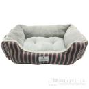 アニマルシティ ボーダー柄 スクエア型ベッド 中 ピンク