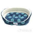 アニマルシティ ビックドット柄 丸型ベッド M ブルー