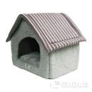 アニマルシティ ボーダー柄ハウス型ベッド L ピンク