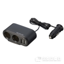USB&ツインソケット EM-130