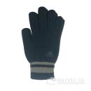 adidasニット手袋 ネイビー