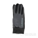 adidasニット縫製手袋 グレー