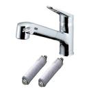 【ロイサポート用・作業費別・処分費別】LIXIL(INAX) 浄水器内蔵ワンホール混合栓 浄水器カートリッジ2個付
