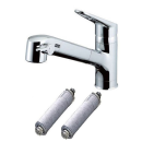 LIXIL(INAX) 浄水器内蔵ワンホール混合栓 浄水器カートリッジ2個付